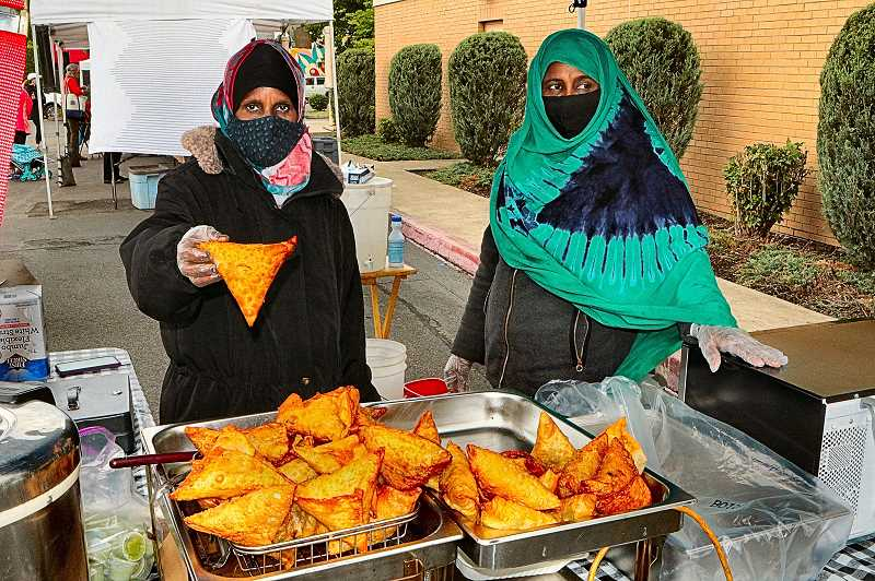 DAVID F. ASHTON - Fituma and Khadro were serving up Somali Sambuus (also called Samosas) - a delicious deep-fried triangular pastry filled with meat and spices.