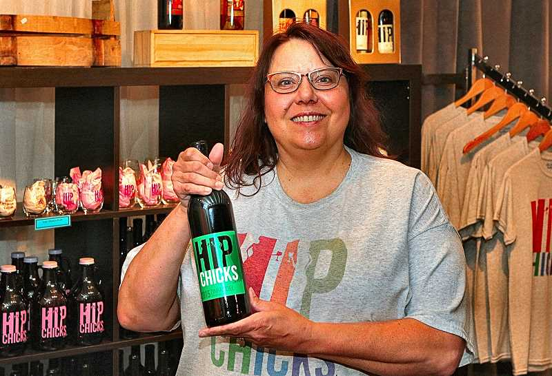 DAVID F. ASHTON - Hip Chicks do Wine owner Laurie Lewis says all their wines are made right here, on the border of the Reed and Brooklyn neighborhoods, in the shadow of the Holgate viaduct over the Brooklyn railroad yard - and its all available right now, for pickup or delivery.
