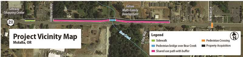 COURTESY CITY OF MOLALLA - The bike and pedestrian project should get started sometime this summer.