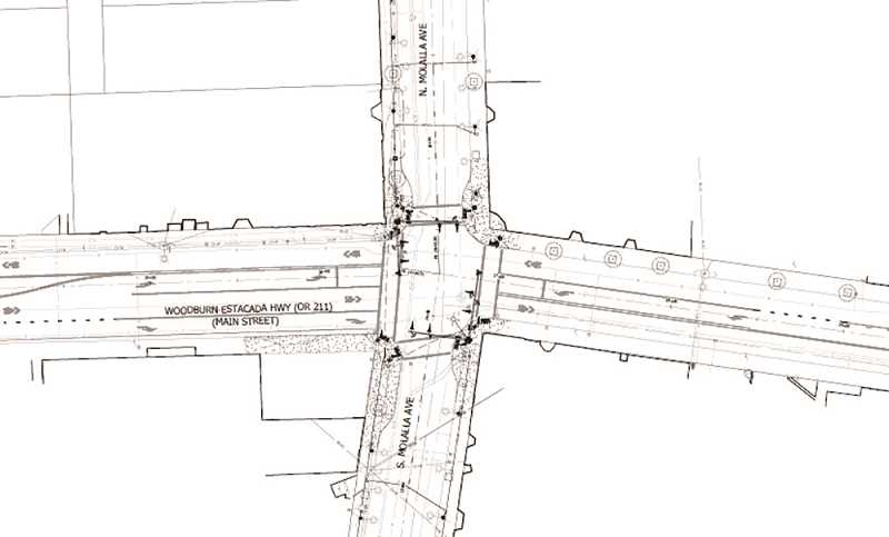 COURTESY CITY OF MOLALLA - This intersection project for Molalla Avenue is slated to start in July 2020.