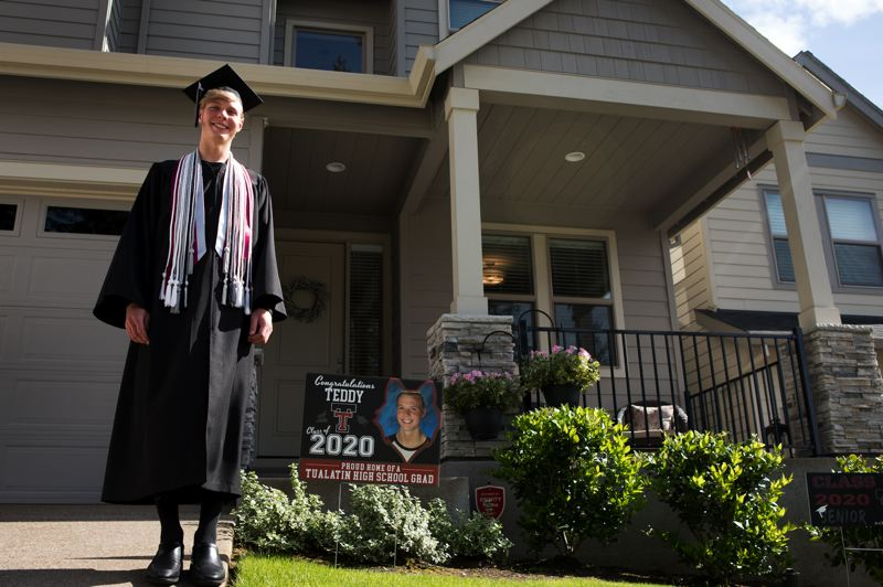 PMG PHOTO: JAIME VALDEZ - Teddy Fronczak, ASB president and part of Tualatin High School's Class of 2020, will start college in Florida in the fall, after a bizarre school year cut short by the coronavirus pandemic.