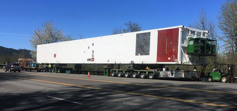 COURTESY PHOTO: MULTNOMAH COUNTY - Wide loads like this one will force occasional closures of Northwest Cornelius Pass Road this weekend and also on the weekend of July 10-13.