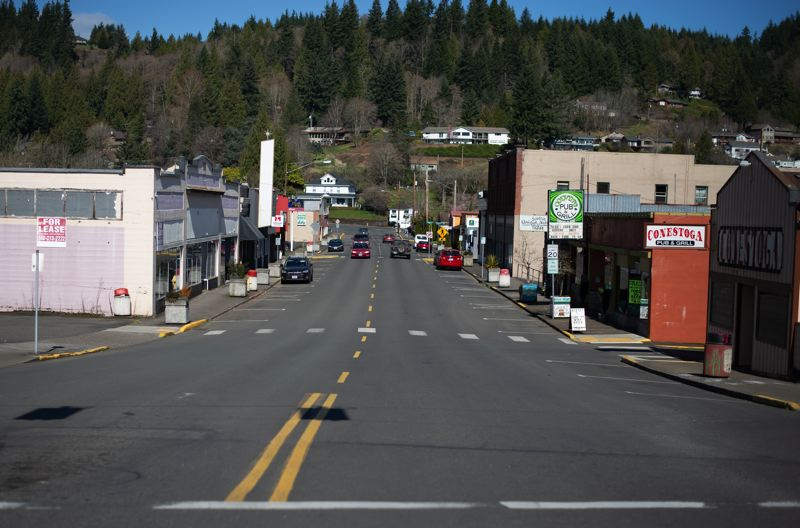 PMG PHOTO: ANNA DEL SAVIO - Small businesses in downtown Clatskanie may be among those that could benefit from a new grant program.