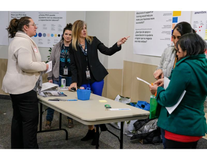 PHOTO: SEAN MCDONALD - At an open house in November 2019 for PCC's Portland Metro Workforce Training Center the college gathered ideas for how the new mass timber replacement building could work for clients of the Department of Human Services who are looking for work and education.