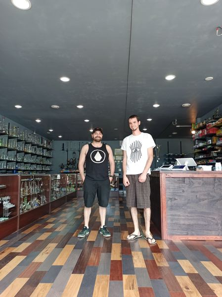 COURTESY PHOTO - Nicholas Herndon, left, and William Ackermann, right, opened their third smoke/vape shop in Lake Oswego during the COVID-19 pandemic.