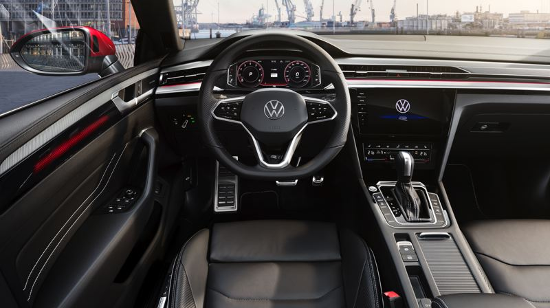 COURTESY VOLKSWGEN - The new Arteon benefits from a redesigned cockpit that is designed to project an upscale luxury and technologically advanced experience.