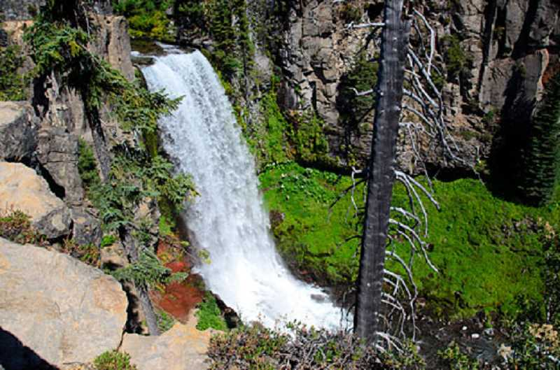 GARY HALVORSON/OREGON STATE ARCHIVES - Tumalo Falls day use area has reopened to the public.