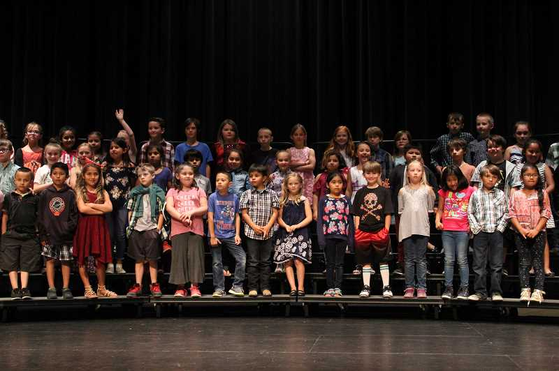JENNIFFER GRANT/MADRAS PIONEER - Madras Elementary students give a concert in 2018. The Jefferson County 509-J School District budget includes elementary school music teachers for the 2020-21 school year.