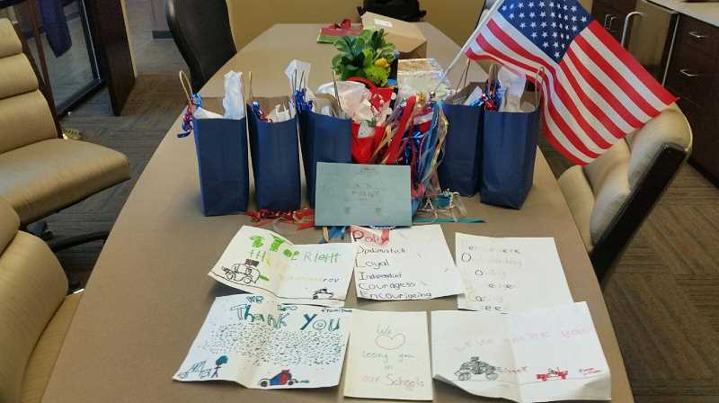 COURTESY PHOTO: MADRAS POLICE DEPARTMENT - The Madras Police Department displays a few of its favorite notes and pictures made by local kids.