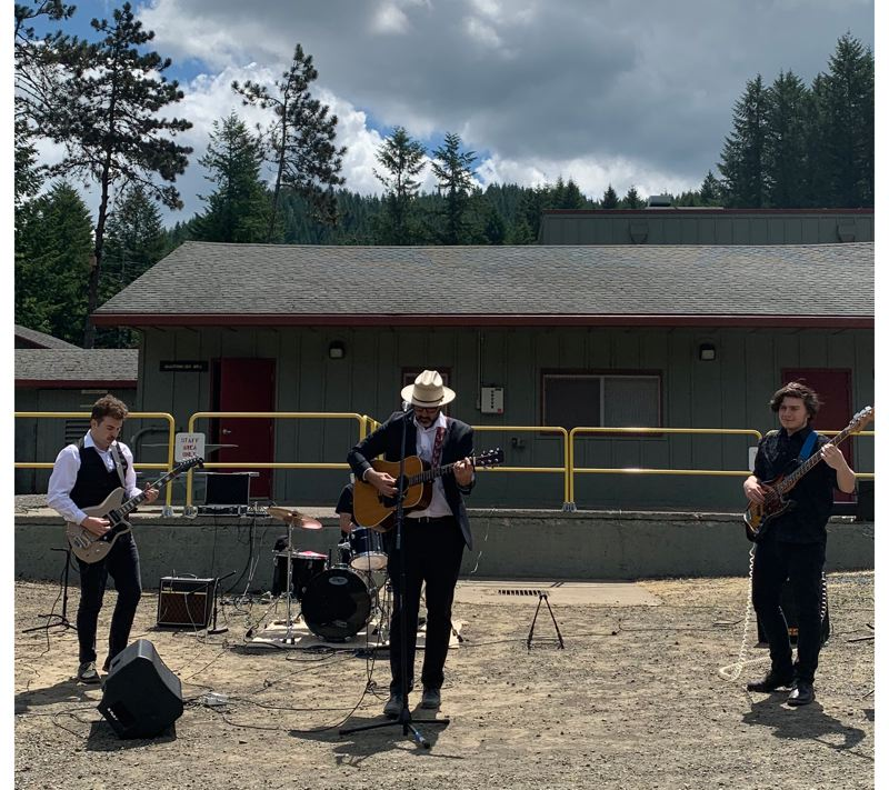 COURTESY PHOTO: TRACY SCHLAPP - Danny Wilson and Luther's Boots played at South Fork Forest Camp in Tillamook in 2018. 'It opened my eyes doing this project; it made me better at a lot of things,' Wilson said.