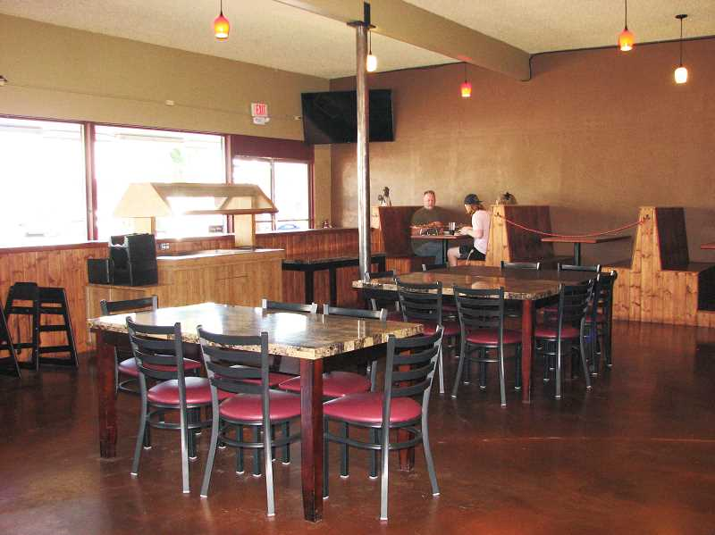 PMG PHOTO: SANDY STOREY - The doors to Bear Creek Pizza and Pub in Molalla opened June 15.