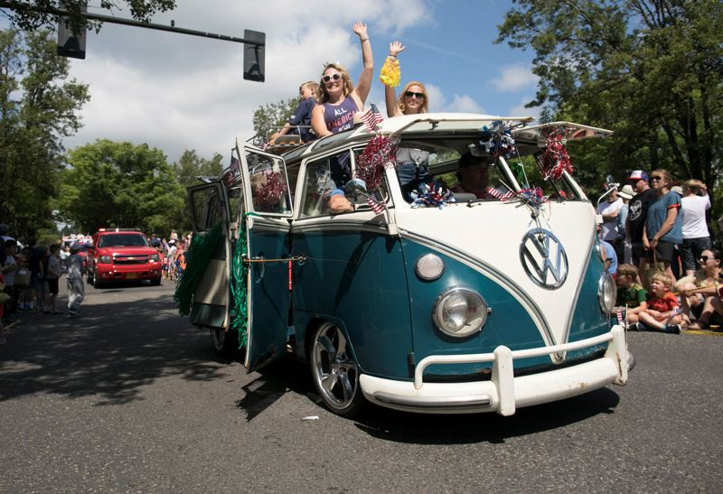 PMG FILE PHOTO - Will neighborhoods and communities see some car parades — with social distancing — on July 4?