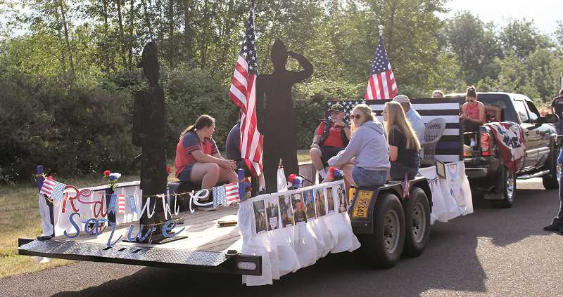 PHOTO BY SANDY STOREY - Molalla will have a July 4 parade after all, but with only cars and trucks. The parade begins at MHS at 10 a.m. on July 4 and will travel nearly 11 miles throughout Molalla.