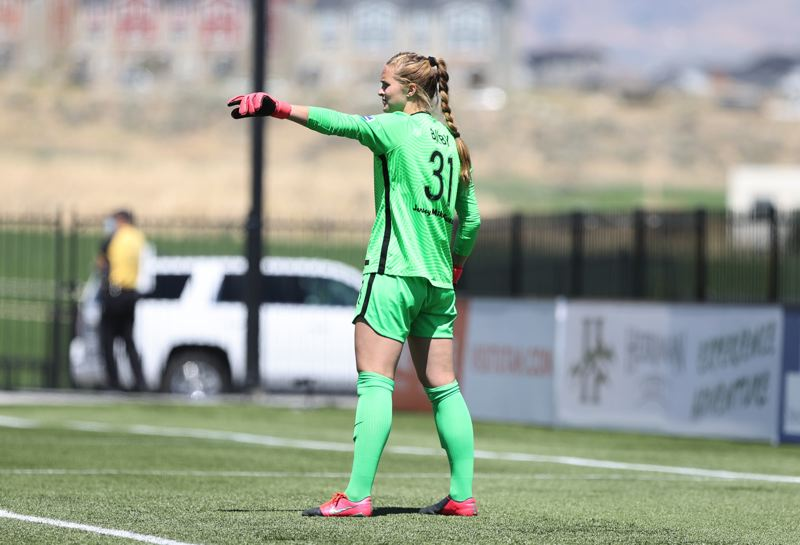 COURTESY PHOTO: ROB GRAY/ISI PHOTOS - Milwaukie native Bella Bixby made four saves for the Portland Thorns in her first professional match on June 27,