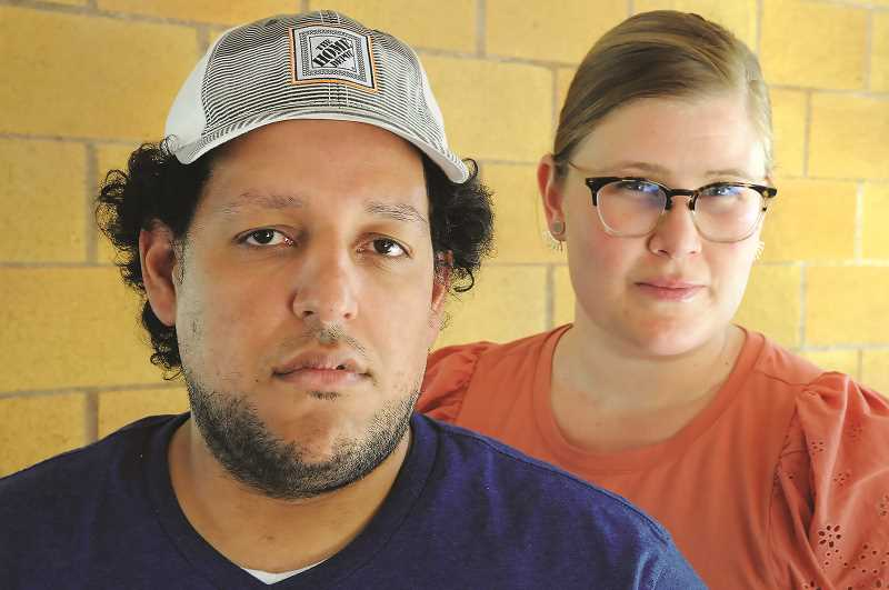 PMG PHOTO: GARY ALLEN - Edward and Elizabeth Nunez say they have been startled by the level of discimination and racism he has faced since moving to Newberg four years ago.