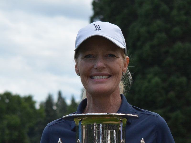 COURTESY PHOTO: OREGON GOLF ASSOCIATION - Lara Tennant of Portland won the Oregon Senior Women's Amateur golf tournament for the fourth year in a row.