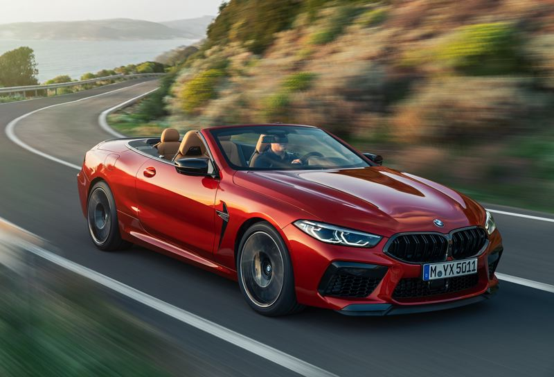 COURTESY BMW - The 2020 BMW M8 Competition Convertible is striking and goes even faster than it looks, thanks to its 617 hoursepower 4.4-liter V8.