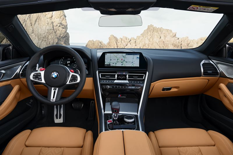 COURTESY BMW - The interior of the 2020 BMW M8 Competition Convertible is comfortable, elegant and loaded with advanced technologies.