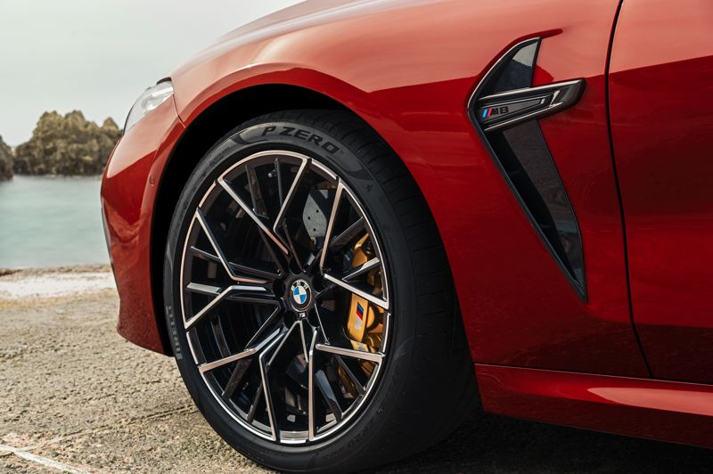 COURTESY BMW - The optional brake package provide all the stopping power needed for the 2020 BMW M8 Competition Convertible.