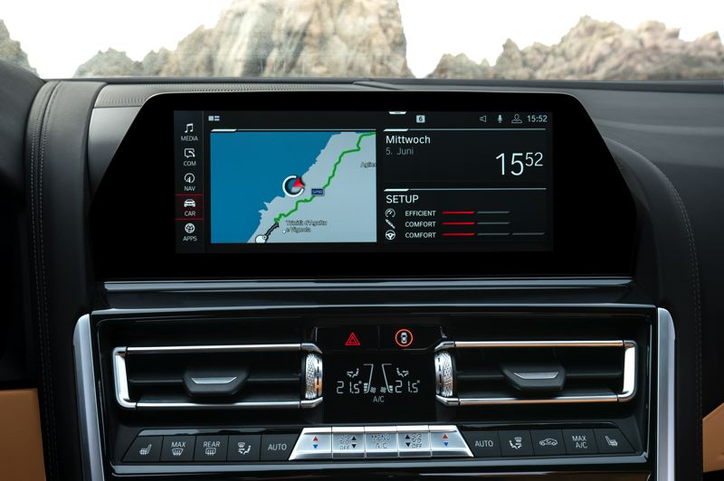 COURTESY BMW - The new iDrive 7.0 infotainment system on all BMW 8-Series vehicles.
