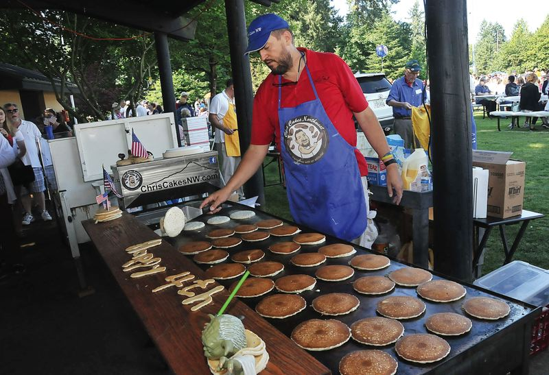 PMG FILE PHOTO - The annual pancake feed hosted by the Lake Oswego Lions Club will move online this year.