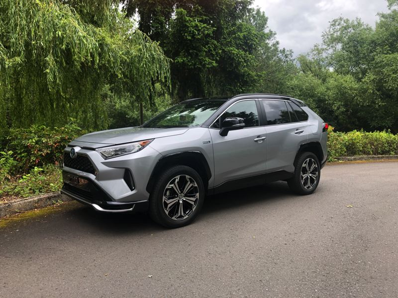 PMG PHOTO: JEFF ZURSCHMEIDE - The 2020 Toyota RAV4 Prime is a plug-in hybrid that will go up to 42 miles on electricty alone before switching over to a conventional fuel saving gas/electric mode.