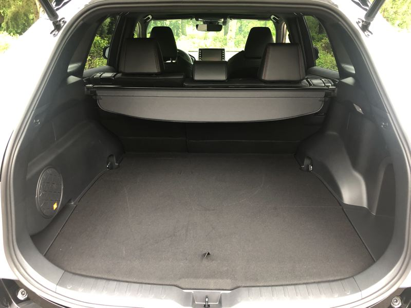 PMG PHOTO: JEFF ZURSCHMEIDE - The battery pack in the 2020 Toyota RAV4 Prime does not reduce the cargo space in the 2020 Toyota RAV4 Prime.
