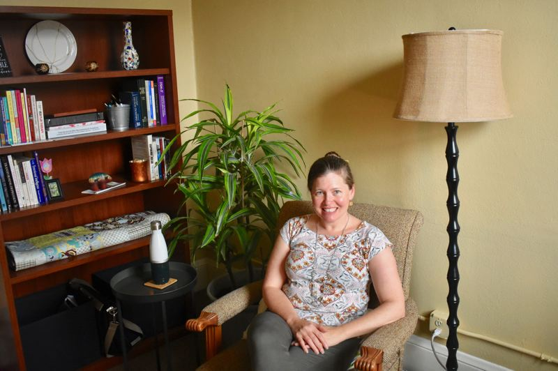PMG PHOTO: EMILY LINDSTRAND - Heather Sherman opened her counseling practice in downtown Estacada earlier this year.