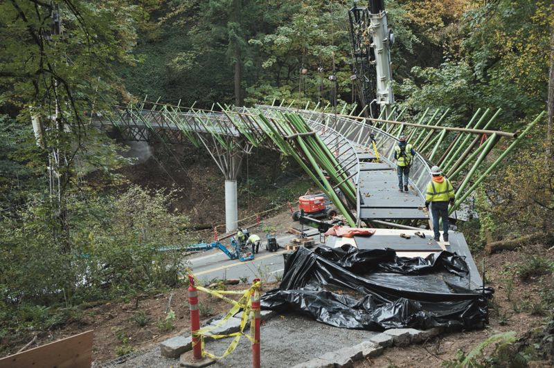 PMG FILE PHOTO - The 180-foot Barbara Walker Crossing connects the Wildwood Trail over West Burnside Street.