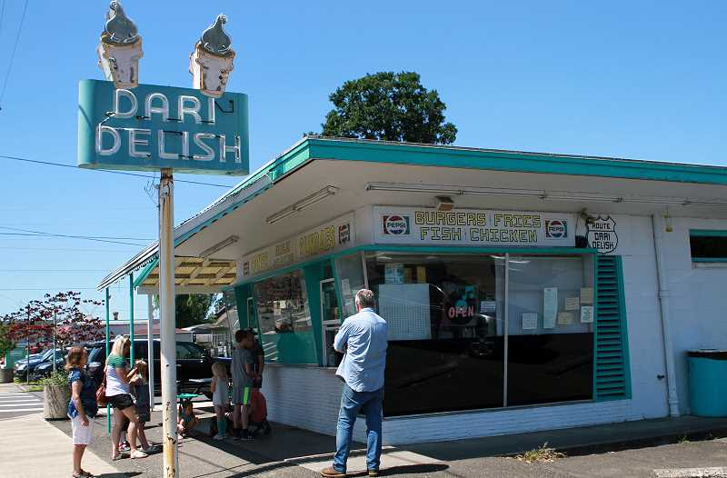 PMG PHOTO: MILES VANCE - The Dari Delish restaurant has been a mainstay in St. Helens for decades and has been doing brisk business since the coronavirus pandemic began in the U.S.