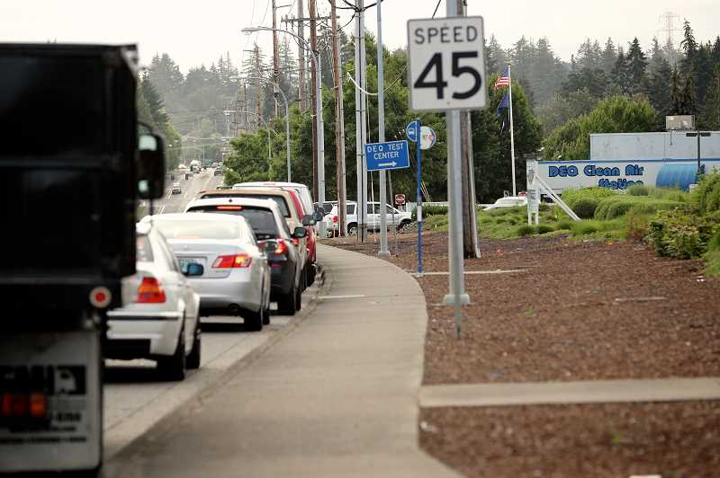 Oregonians don't get memo, line up for hours at DEQ stations