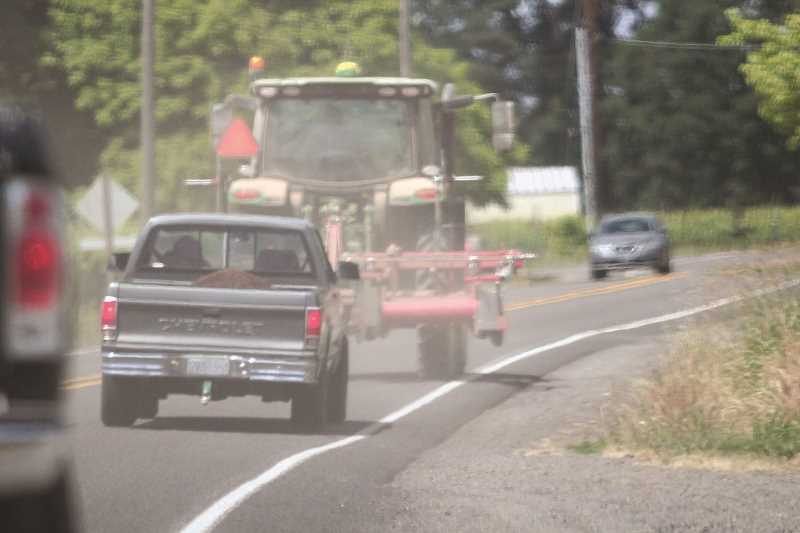 PMG PHOTO: PHIL HAWKINS - Rural-road safety and the hazards farmers face has been a topic of priority for Oregon farmers in recent years.