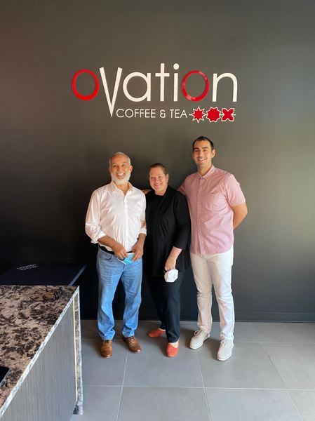 COURTESY PHOTO - Left to right: Abdellah, Dee and Karter Elhabbassi at Ovation Coffee & Tea.