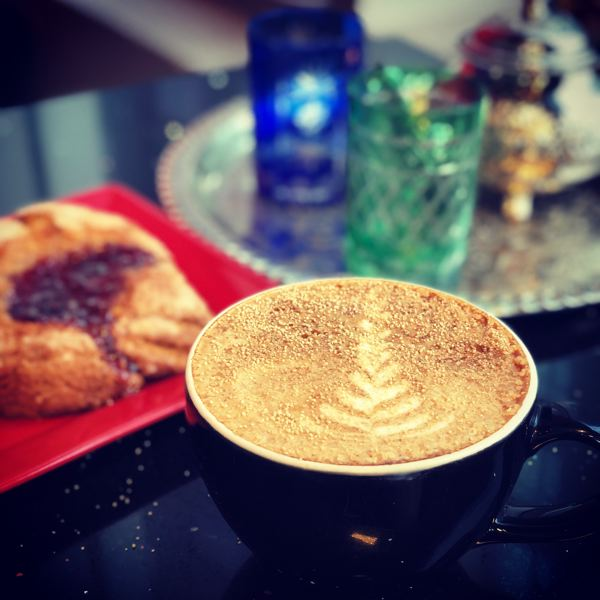 COURTESY PHOTO - Pictured here is a Moroccan latte topped with dried honey sprinkles.