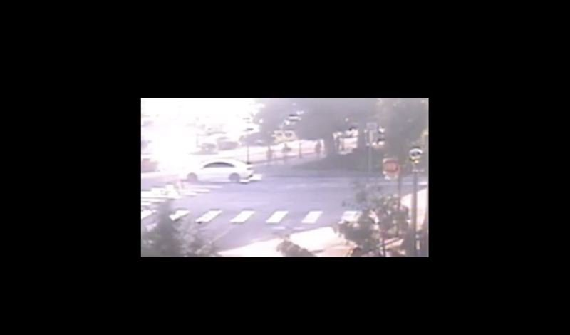 COURTESY PHOTO: CLACKAMAS COUNTY COUNSEL - A screenshot of the video released by the Clackamas County Sheriff's Office shows the view from TriMet security cameras outside of the Clackamas Town Center when the incident occured. No conclusive evidence as to whether a deputy knelt on Benbo's neck can be drawn from the video.