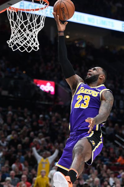 PMG FILE PHOTO: CHRISTOPHER OERTELL - LeBron James and the Los Angeles Lakers could be on the horizon for the Trail Blazers, if they make the NBA playoffs.