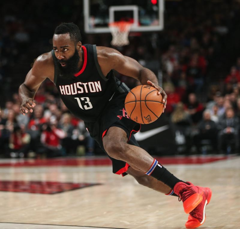 PMG FILE PHOTO: DAVID BLAIR - Houston's James Harden and Russell Westbrook could have a say in how things go in the Western Conference.