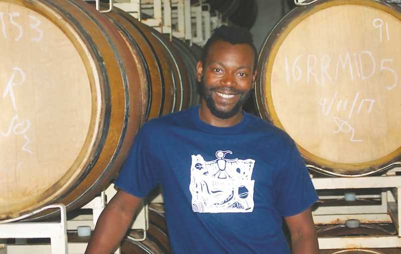 COURTESY PHOTO - Jarod Sleet is an assistant winemaker at ROCO Winery and one of few black winemakers in the Chehalem Valley.