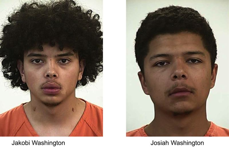 COURTESY PHOTOS: JEFFERSON COUNTY SHERIFF'S OFFICE - Jakobi and Josiah Washington are suspected in a shooting of an 18-year-old Madras man.
