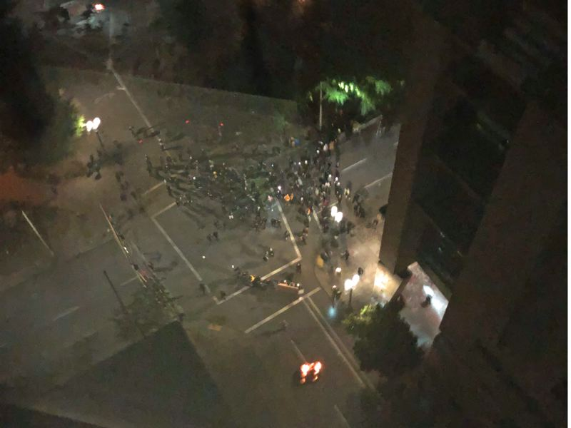 Another night, another riot and arson in downtown Portland