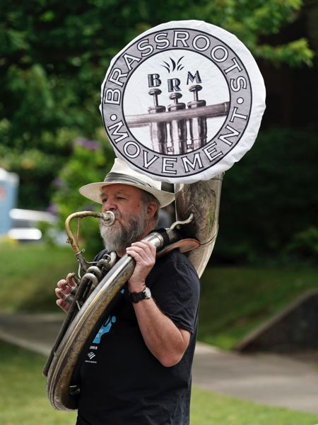 COURTESY PHOTO: NORM EDER - Mark Vehrencamp putting the om-pa-pa into Brass Roots Movement.