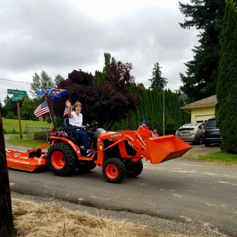 COURTESY PHOTO: KATHY OBRIST - The tractor parade in Gresham came as many other regional events were canceled because of COVID-19 concerns.