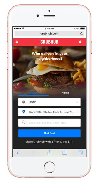 COURTESY PHOTO - Grubhub delivers food from dozens of Portland-area restaurants through its app.