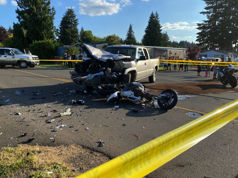 Motorcyclist deceased after crash in Boring