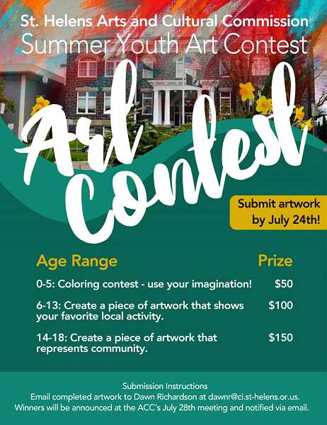 COURTESY PHOTO - In lieu of regular summer events, the commission is holding its first annual summer youth art contest to inspire children while they continue to social distance.