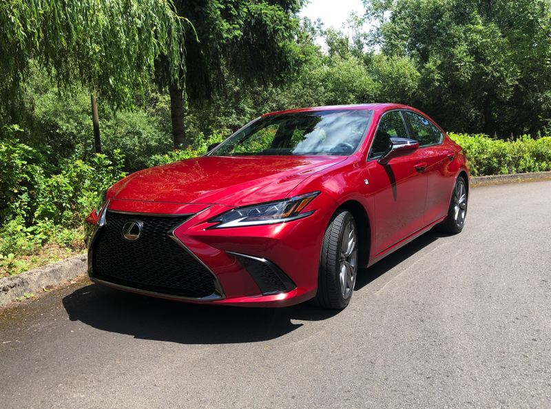 PMG PHOTO: JEFF ZURSCHMEIDE - The 2020 Lexus ES can be ordered with F Sport trim, which gives you well-bolstered sport seats and special performance suspension tuning with performance shock dampers, 19-inch wheels and low-profile tires.