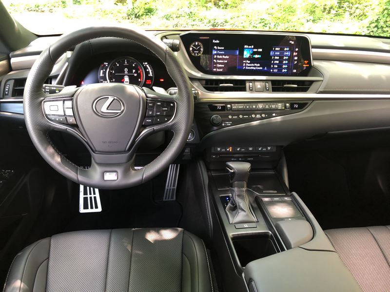 PMG PHOTO: JEFF ZURSCHMEIDE - The interior of the 2020 Lexus ES has all the luxury one expects from a permium car, including a huge 12.3-inch high resolution display with navigation.