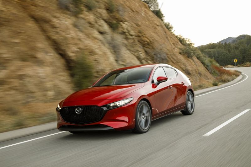 COURTESY MAZDA - The optional turbocharged 2.5-liter engine is specially tuned for the Mazda3 sedan and hatchback.