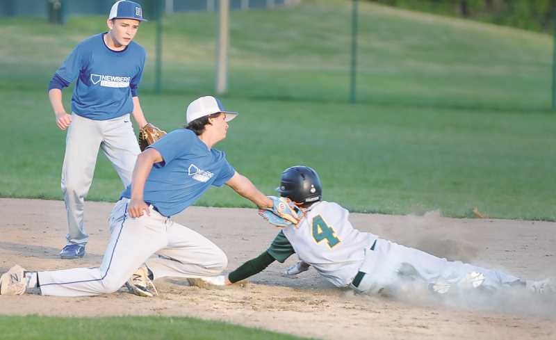 PMG FILE PHOTO - Eight individuals associated with the Newberg summer baseball team, including head coach Trey Watt, tested positive for COVID-19 and are self-isolating after one player went to the hospital with a high fever on July 3.