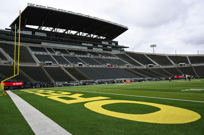PMG FILE PHOTO: CHRISTOPHER OERTELL - Autzen Stadium would have hosted one of the biggest games in its history on September 12. But Ohio State will not be coming to Eugene in 2020 as Big Ten cancels non-conference games because of COVID-19.